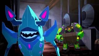 getlinkyoutube.com-Transformers Robots in Disguise Bumblebee and Grimlock vs Hammerstrike