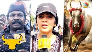 getlinkyoutube.com-VJ Ramya and Imman Annachi Speech at Marina Protest | Jallikattu Ban