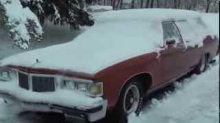 getlinkyoutube.com-1976 Pontiac Grand Safari 455 Cold Start in -12 degree weather