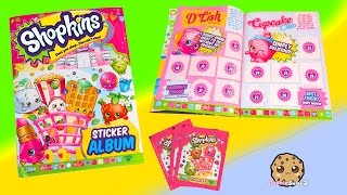 getlinkyoutube.com-3 Shopkins Season 1 & 2 STICKERS Blind Bag PACKS + Album Unboxing Video Cookieswirlc