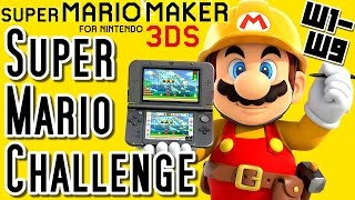 getlinkyoutube.com-Super Mario Maker 3DS All SUPER MARIO CHALLENGE Courses (Worlds 1 to 9)