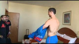 getlinkyoutube.com-Cristiano Ronaldo and Nani, ping-pong trash talk.