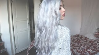 getlinkyoutube.com-Silver Hair Tutorial | Miranda Hedman