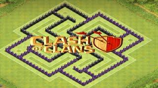 getlinkyoutube.com-CLASH OF CLANS - LAYOUT DE GUERRA CV 8 - 4 MORTEIROS
