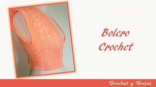 getlinkyoutube.com-Bolero tejido a crochet con punto fantasía – Parte 1