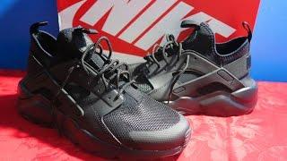 NIKE AIR HUARACHE RUN ULTRA ALL BLACK! | COZY SNEAKERS (UNBOXING & ON FEET)