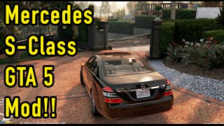 getlinkyoutube.com-GTA 5 - Mercedes S-Class W221 Mod!!