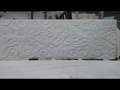 Nature Stone 3d wall panel of white could design