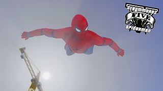 getlinkyoutube.com-The Amazing Spiderman Mod ! Homecoming Spidey (GTA 5 Spiderman Mod Gameplay)🕷️