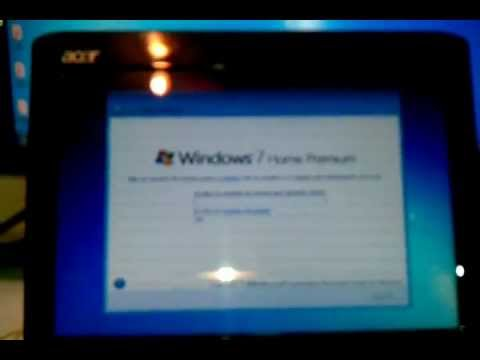 Install Windows 7 From a USB Flash Drive or USB Hard Drive to note book, netbook