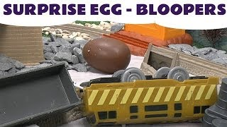 getlinkyoutube.com-Thomas & Friends Surprise Eggs BLOOPERS Kinder Surprise Peppa Pig Play Doh My Little Pony Planes