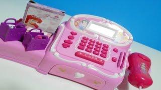 getlinkyoutube.com-ألعاب بنات - لعبة المحاسب - أميرات الدزني نشتري تلتبيز Cash Register Princess Disney