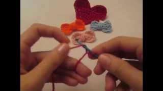 getlinkyoutube.com-كروشيه شرح عمل فيونكة بطريقة سهله جداً للمبتدئين How to Make a Crochet bow