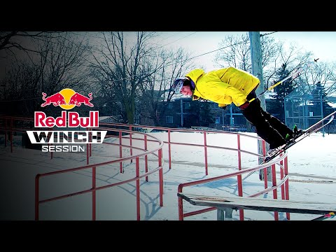 Winch Sessions - Skiing a 97ft rail - Episode 1