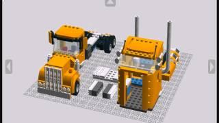 getlinkyoutube.com-Lego Custom Kenworth Truck build guide