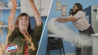 getlinkyoutube.com-Moms Re-Create Their Kids' Worst Messes // Presented By BuzzFeed & Clorox