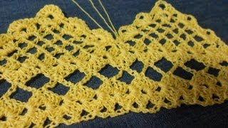 getlinkyoutube.com-Orilla tejida en Picos parte 1 de 2 Crochet