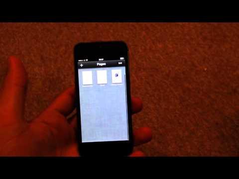 blå skärm iphone 5
