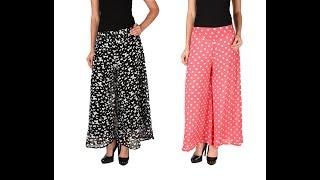 getlinkyoutube.com-How to make latest designer palazzo pants / Tuk pleats DIY