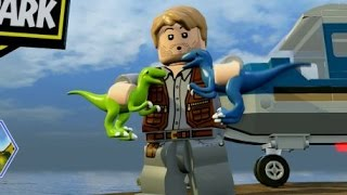 getlinkyoutube.com-LEGO Jurassic World - Isla Sorna Free Roam Gameplay