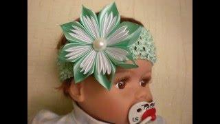 getlinkyoutube.com-Цветок Канзаши. Новый Лепесток из Ленты 2.5 см. Своими Руками. /DIY / Flowers Kanzashi /Tutorial.