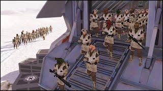 getlinkyoutube.com-REBEL REINFORCEMENTS TO THE FRONTLINE - Star Wars: Galaxy at War Mod Gameplay