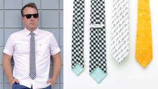 getlinkyoutube.com-How to sew a Necktie for Boys + Teens + Men --- Skinny Tie and Classic Tie