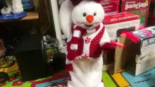 Gemmy Peppermint Spinning Snowman and Snow-woman Speaker Modification