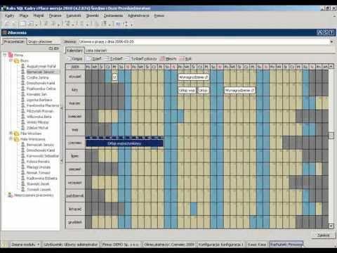 Planowanie urlopów programu RAKSSQL