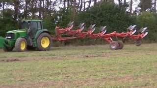 getlinkyoutube.com-John Deere 6920S & Kuhn Manager  6 furrow plough