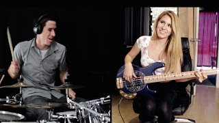 getlinkyoutube.com-MAGIC! - Rude - Cover (Ft. Anna Sentina) Drum Cover & Bass Cover