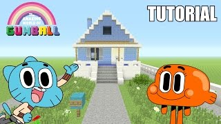"getlinkyoutube.com-Minecraft Tutorial: How To Make ""Gumball's"" House!! ""The Amazing World Of Gumball"" (Survival House)"