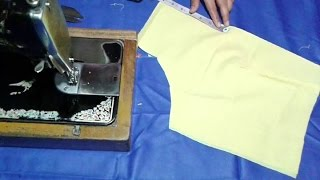 getlinkyoutube.com-Simple blouse cutting and stitching in hindi