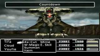 Final Fantasy VII AC Mod - Battle VS HD Diamond Weapon - Part I