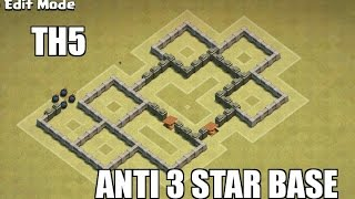 getlinkyoutube.com-COC|TH5 WAR BASE -ANTI 3 STAR(anti giant &air attacks)