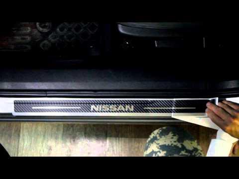 Наклейки на пороги для Nissan Qashqai