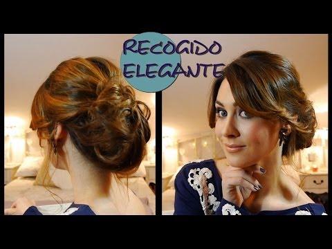 Peinado/Recogido elegante de fiesta fácil. Elegant and easy updo for parties