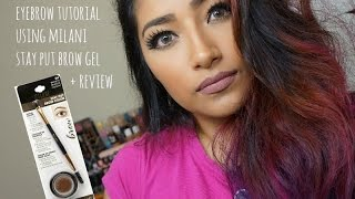 getlinkyoutube.com-EYEBROW TUTORIAL Using MILANI STAY PUT BROW COLOR BRUNETTE + Review