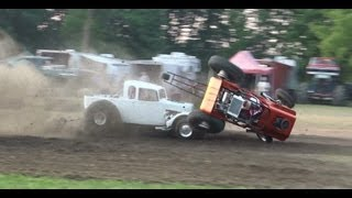 *WARNING* *PROSTOCK RACE & *GRAPHIC* CRASH IN TRANSFER, PA 2012* FTI/MRA SERIES