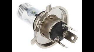 Светодиодные лампы H4 для фар старых автомобилей. Тест/сравнение/установка.