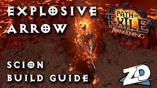 Path of Exile: EXPLOSIVE ARROW SCION Build Guide - Budget 1 Month Hardcore & Softcore Viable
