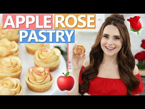 DIY APPLE ROSE PASTRIES!