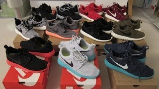 getlinkyoutube.com-My Roshe Run Collection!