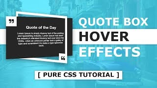 CSS Quote Box Hover Effects - CSS 3d Perspective width=