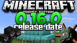 getlinkyoutube.com-NEW OFFICIAL 0.16.0 RELEASE DATE! - MCPE 0.16.0 TOMORROW!? - Minecraft Pocket Edition