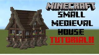 getlinkyoutube.com-minecraft - small medieval house tutorial