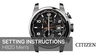 getlinkyoutube.com-CITIZEN H820 Men's Setting Instruction