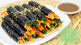getlinkyoutube.com-Asian at Home | Drug Gimbap/Mini Kimbap
