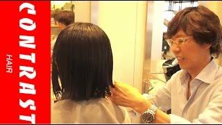 getlinkyoutube.com-ばっさり ショートボブカット  JIKKO YAMADA  動くヘアカタログ   渋谷 美容室 美容院 CONTRAST HAIR 山田実行