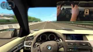getlinkyoutube.com-BMW M5 F10 City Car Driving Simulator G27 300 Km/h Big Crash Ending !!!